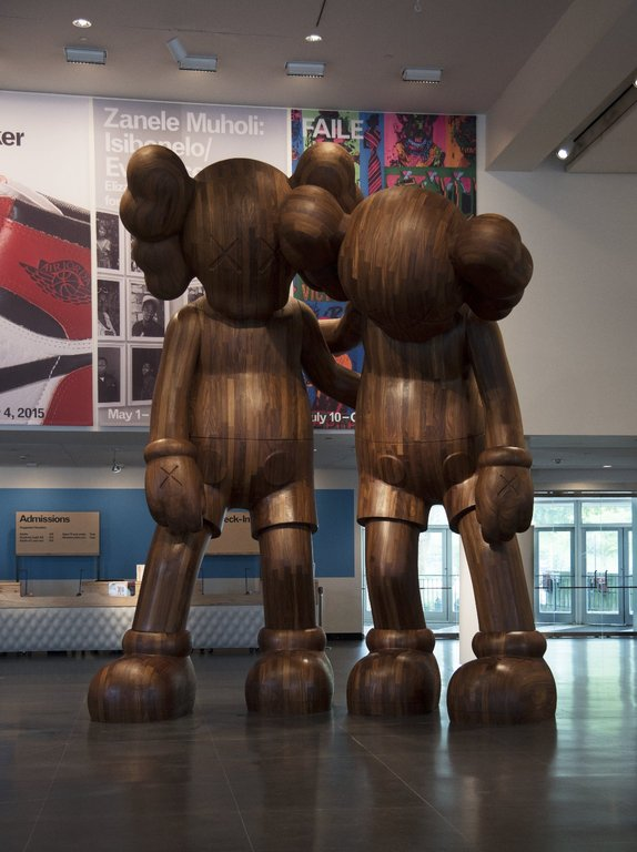 KAWS ALONG THE WAY WOOD SCULPTURE AT THE BROOKLYN MUSEUM