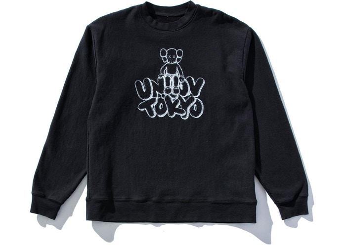 KAWS Union Tokyo black sweatshirt